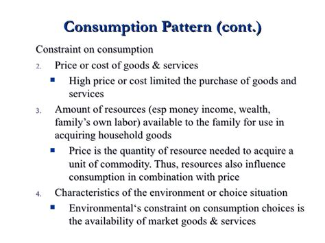 usage pattern definition consumption pattern and expenditure