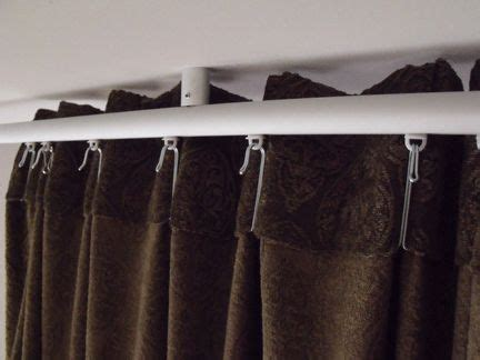 hanging curtain tracks best 25 ceiling mounted curtain track ideas on pinterest
