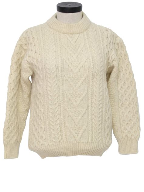 scottish cable knit sweaters seventies vintage sweater 70s peingle scottish