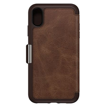 otterbox strada folio iphone xs max leather wallet case