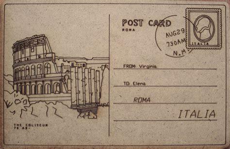 design retro postcards from rome virginia duran blog