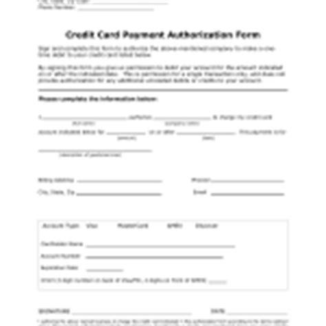 credit card authorization forms  rtf word freedownloadsnet