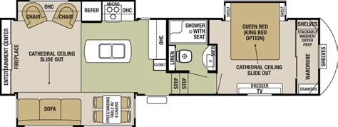 cedar creek 5th wheel floor plans 2016 forest river cedar creek silverback 29ik cing