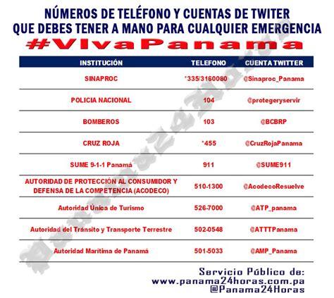 telfonos importantes n 250 meros de emergencia y cuentas twitter para tener a mano