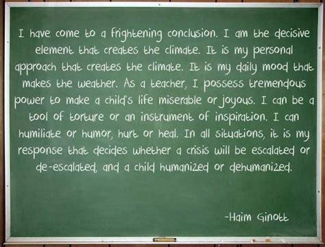 haim ginott on being a teacher teaching quotes school