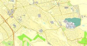 Map San Jose Ca by San Jose California Us Printable Vector Map Street City