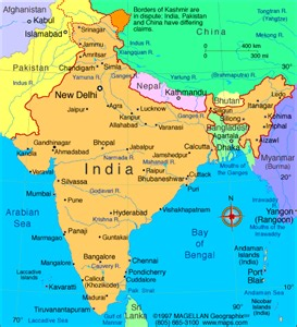 A Map Of India by Atlas India