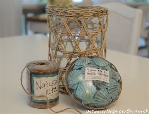 seashell craft for nautical house decorating