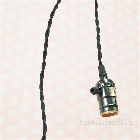 light cord single pearl black socket pendant light l cord kit w