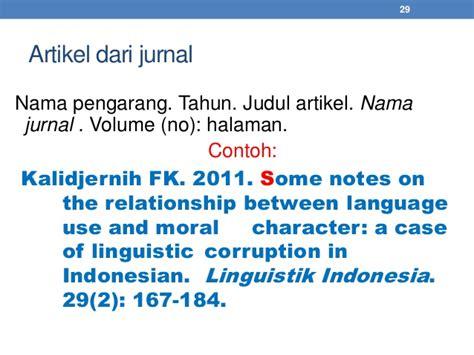 penulisan daftar pustaka ipb contoh daftar pustaka nama pengarang contoh 408