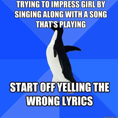 Vomits While Attempting To Sing Own Song by Trying To Impress By Singing Along With A Song That S
