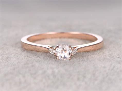3 stones morganite engagement ring gold