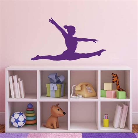 Gymnastics Wall Stickers gymnast wall sticker gymnastics splits wall sticker ebay