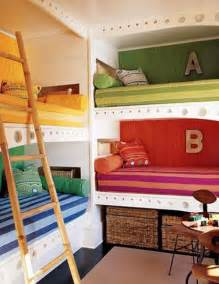 5 beds in one room try this built in bunk beds galore