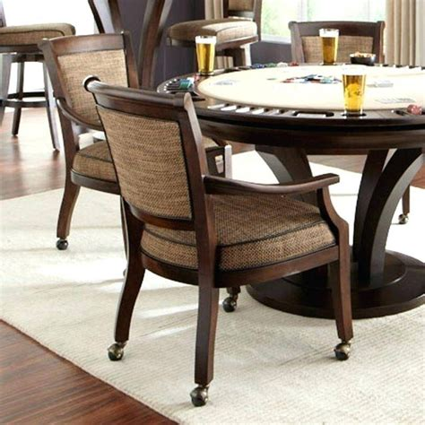 Chairs With Casters Dining Top Luxury Upholstered Dining Chairs With Arms And Casters Broxtern Wallpaper And Pictures