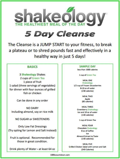 5 Day Detox by 5 Day Cleanse Http Www Shakeology Teamcoconutbeach