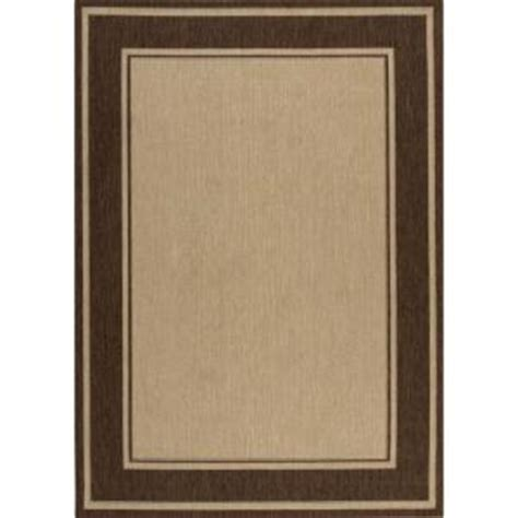 Hton Bay Indoor Outdoor Rugs Hton Bay Brown Border 7 Ft 7 In X 10 Ft 10 In Indoor Outdoor Area Rug 3108 53 65 The