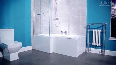 l shaped bathroom 1700mm l shaped square shower bath youtube
