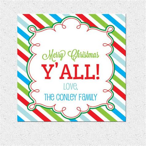 personalized christmas holiday gift tags quot merry christmas