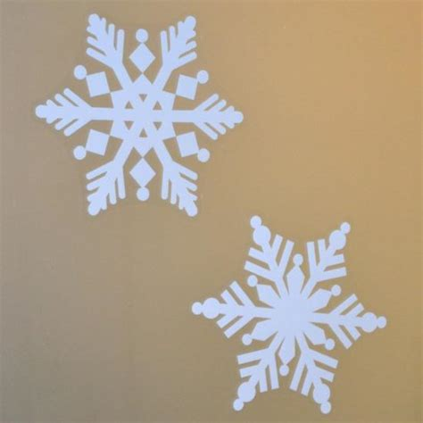 4 pack of large 8 quot snowflake window decal clings window