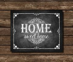 On Way Home Sweet Home by Chalkboard Printable Restroom Arrow Sign Direction Sign Rustic Bathroom Sign Chalkboard Sign