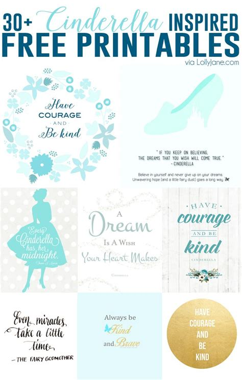 printable princess quotes free cinderella inspired printables