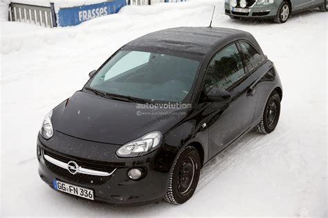 opel winter spyshots opel vauxhall adam cabrio winter testing