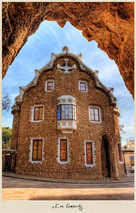 House Entrance Ideas Gaudi S Parc G 252 Ell In Barcelona I Can See For Miles And