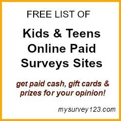 Online Surveys For Cash Safe - paid online surveys online survey and teen kids on pinterest