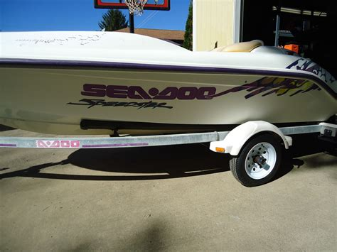 seadoo and boat trailer seadoo speedster boat and trailer for sale for 1 200