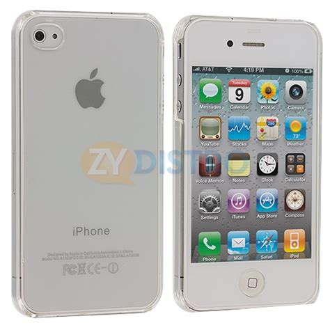 Transparan Thin Iphone 4g4s ultra thin clear snap on new cover for iphone 4 g 4s 4gs ebay