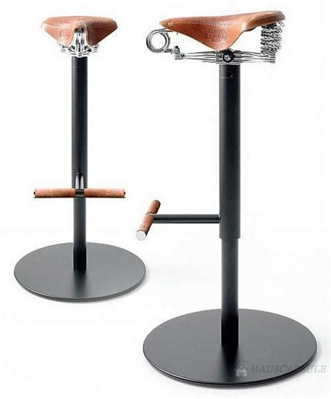 Bike Seat Bar Stool by Bicycle Seat Stools With Foot Rests Bicycle Decor