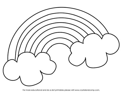 Rainbow Coloring Page For Preschool rainbow coloring sheets for preschoolers coloring pages