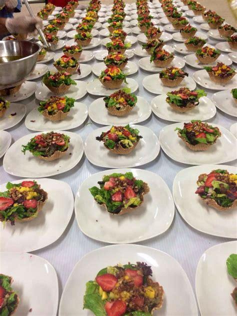 platos para banquetes fuziones bodas