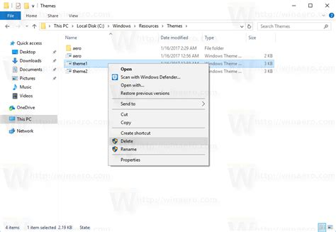 themes windows 10 location how to remove and delete default themes in windows 10