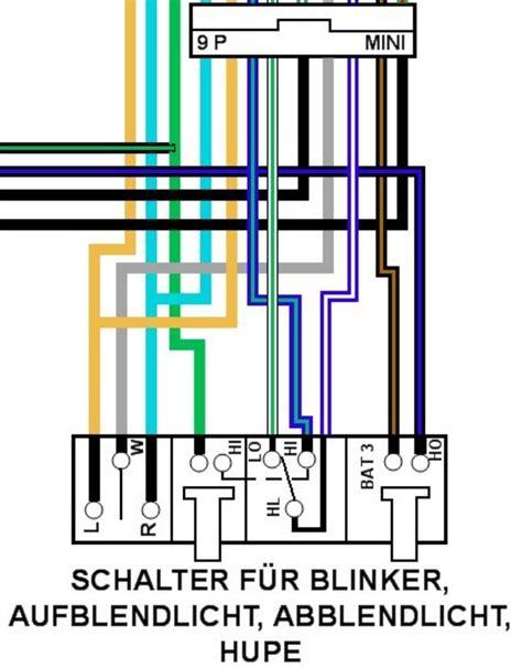 Schaltung Zusatzscheinwerfer Motorrad by Elektronik Lenkerschalter Schaltplan Gesucht
