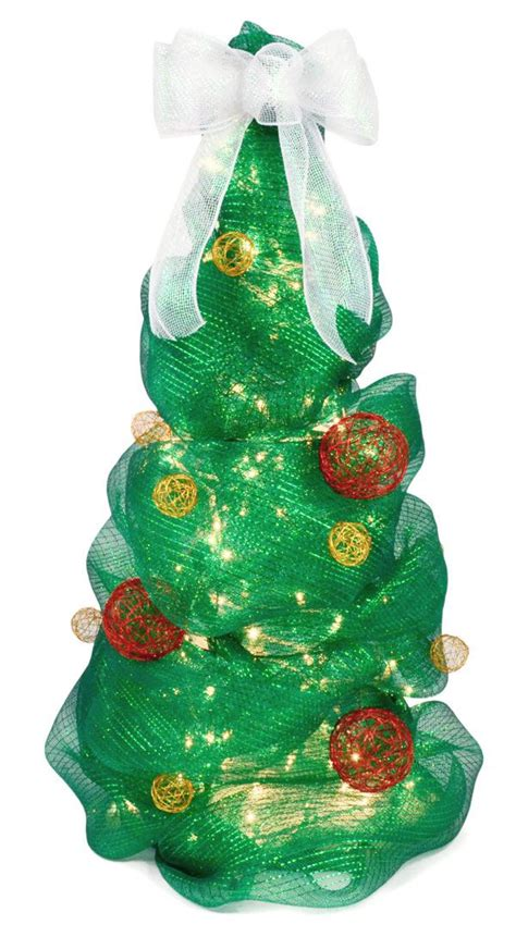 deco mesh christmas tree tutorial 3 foot tall tree using