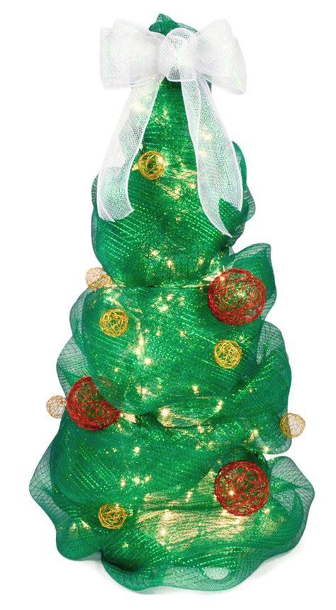 deco mesh christmas tree tutorial 3 foot tall tree using