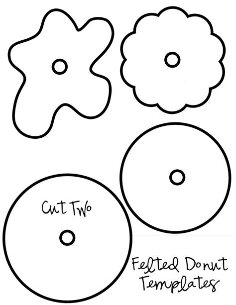 donut template my pretties felt donuts