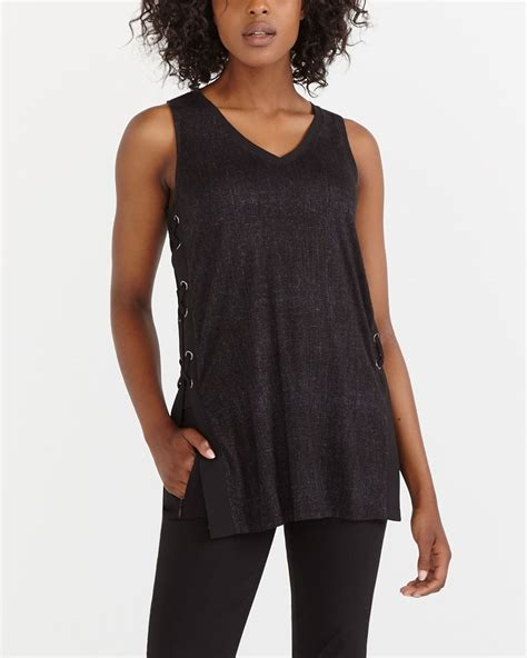Lace Up Tank Top tank top with lace up sides reitmans