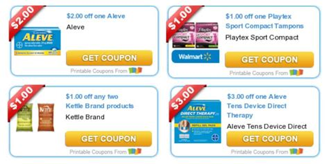 todays top  coupons savings  virtuoso pizza aleve playtex moreliving rich