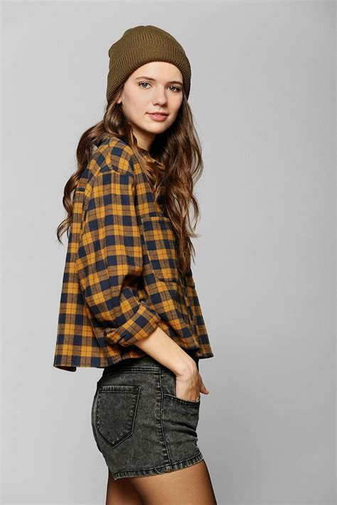 Crop Flanel bdg cropped flannel shirt urbanoutfitters hair colors