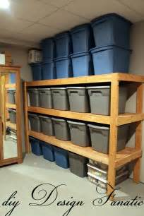 an easy way to build inexpensive basement storage shelves