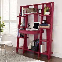 Bookshelves With Desk Altra Ladder Bookcase With Desk