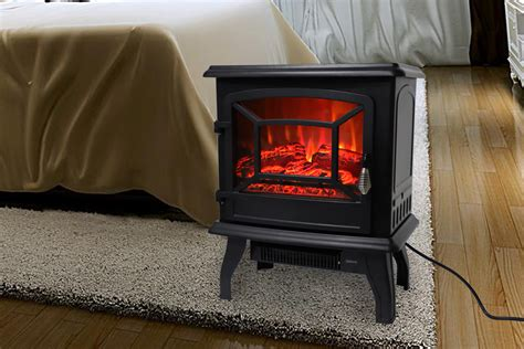 electric fireplace stove fake wood space heater
