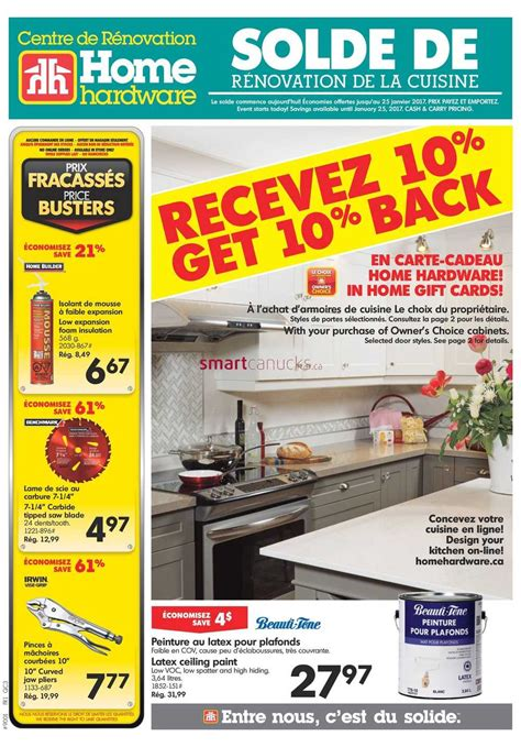 home hardware home hardware building centre qc flyer january 18 to 25