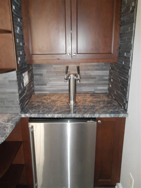 built in kegerator kegerator for wet bar design build pros