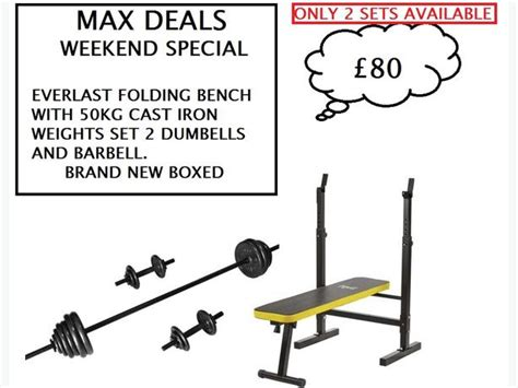 everlast workout bench everlast folding workout bench with 50kg cast iron weights