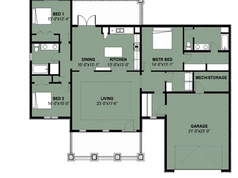 Simple 3 Bedroom House Floor Plans Simple 3 Bedroom 2 Bath Three Bedroom Floor Plan House Design