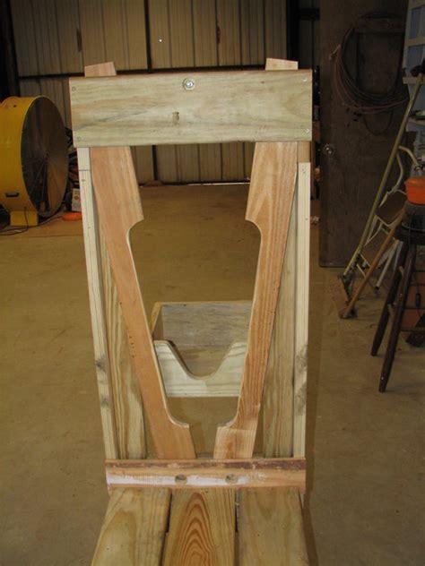 goat milking stand  bench  jim  lumberjockscom